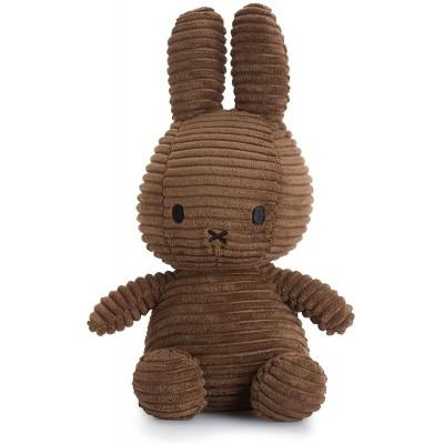 Bon Ton Peluche lapin Miffy corduroy brun 23cm
