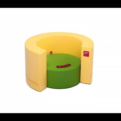 Designskin TUNNEL Siège jaune et vert