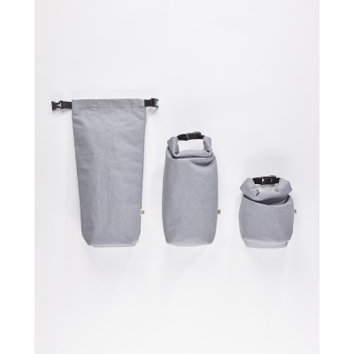 Mero Mero Insulated Case Roll-Top Semnoz Pouch - Stone Grey