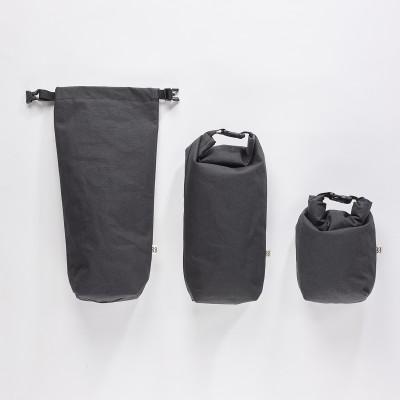 Mero Mero Insulated Case Roll-Top Semnoz Pouch - Dark Grey