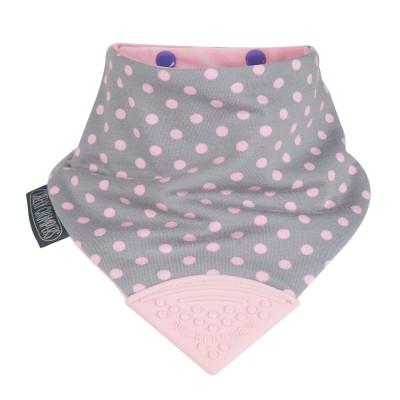 Cheeky Chompers - Bavoir Polka Dot Pink