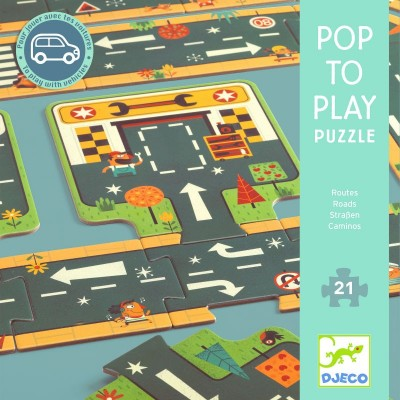 "Djeco Puzzle ""Routes"" Pop to play"