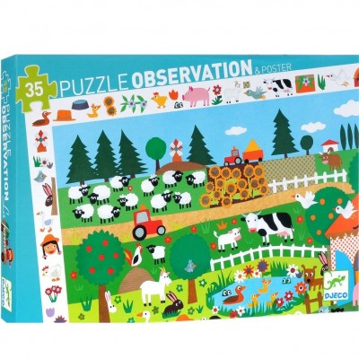 DJECO Observation Puzzle - The Farm
