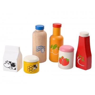 Plan toys Set d'aliments et boissons en bois