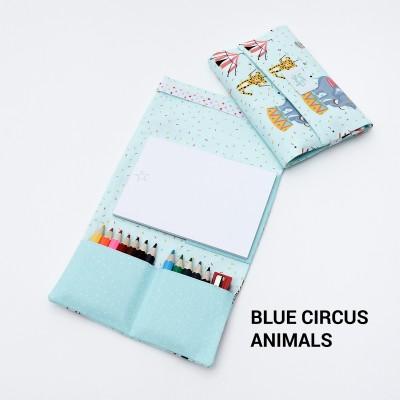 Tiny Magic Pochette à dessin - Blue Circus Animals
