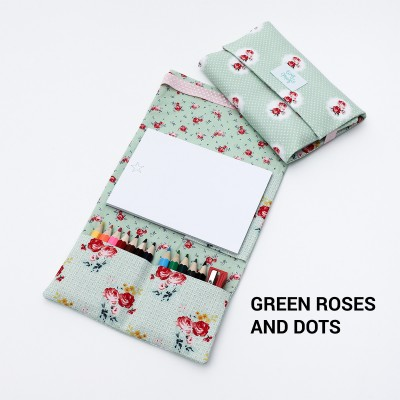 Tiny Magic Drawing Kit - Green Roses and Dots