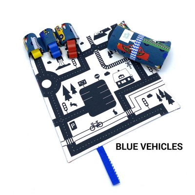 Tiny Magic CarPet Colors - Blue Vehicles