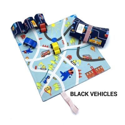 Tiny Magic Tapis de route pompiers - Véhicules