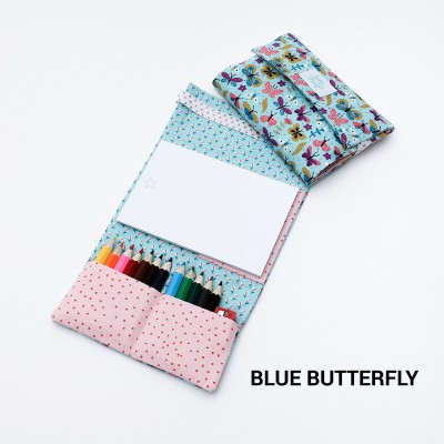 Tiny Magic pochette à dessin - Blue Butterfly