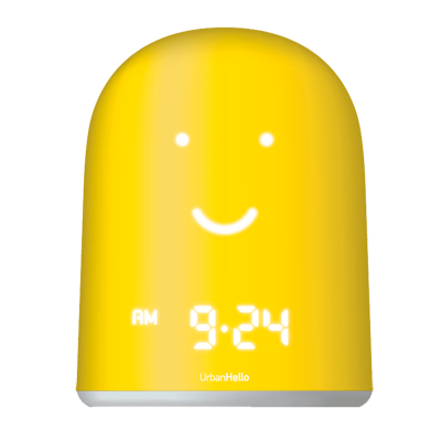 UrbanHello REMI Baby monitor and smart alarm clock, Yellow