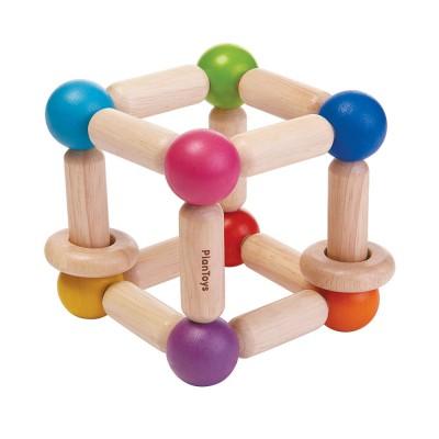 Plan Toys - Hochet cube souple en bois