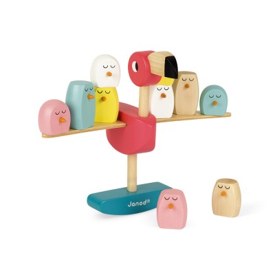 Janod - Pink flamingo balancing game (wood)