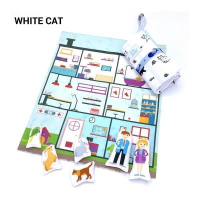 Tiny Magic Veterinary Hospital - White Cat