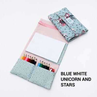 Tiny Magic Drawing Kit - Blue White Unicorn and Stars