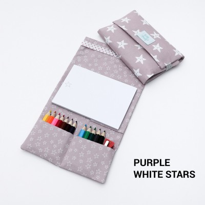 Magic Drawing Kit - Purple white Stars