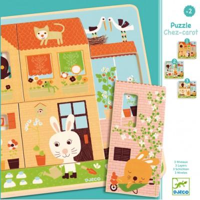 Djeco - Puzzle Chez-Carot