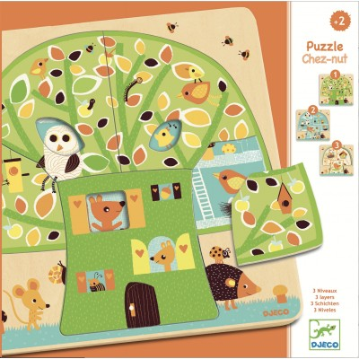 Djeco - Puzzle Chez-Nut