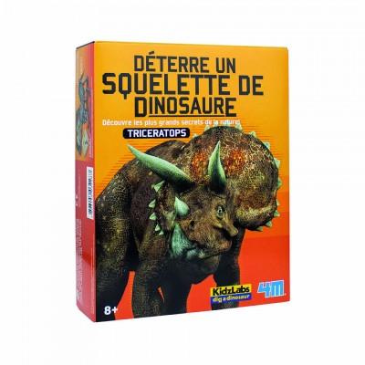 4M - Déterre un squelette de dinosaure - Tricératops