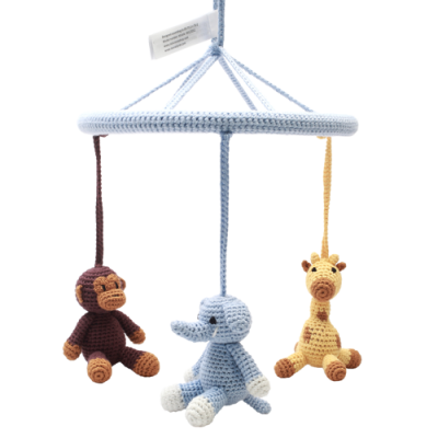 NatureZOO Mobile - Elephant, Giraffe and Monkey