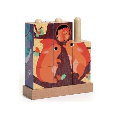Djeco - Puzzle en bois Puzz up Forest