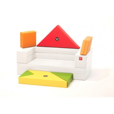 Designskin TANGRAM Sofa avec cadre blanc