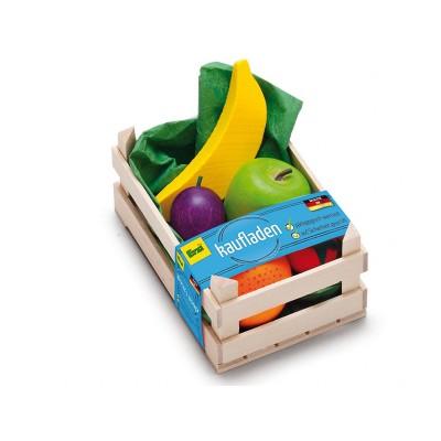 ERZI - Petite cagette de 6 fruits tropicaux - jouets en...