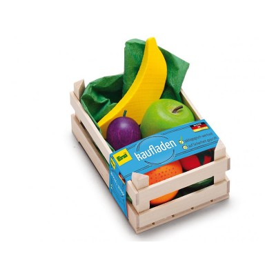 ERZI - Small crate of 6 tropical fruits - wooden toys for...