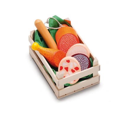 ERZI - Small crate of 6 pieces of meat and cold cuts -...