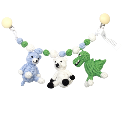 NatureZOO Large trolley mobile - Crocodile, polar bear...