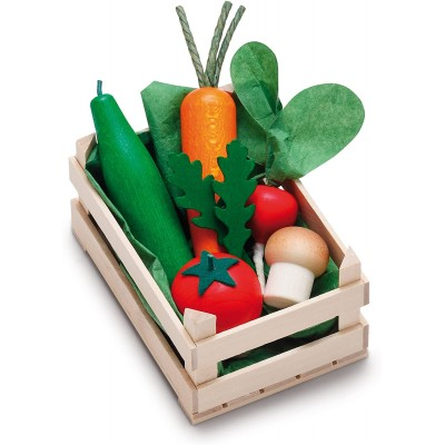 ERZI - Small wooden vegetable crate