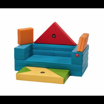 Designskin TANGRAM Sofa avec cadre bleu