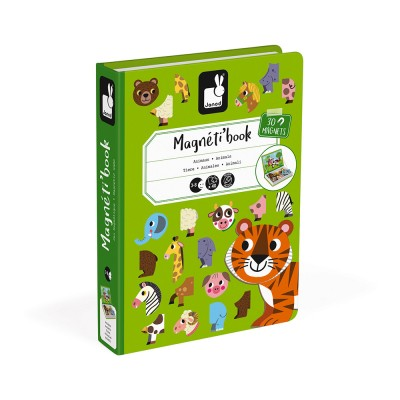 Janod - Magnéti'book animaux, 30 magnets