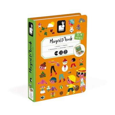 Janod - Magneti'book 4 seasons, 115 magnets
