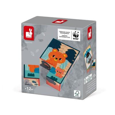 Janod - Cubes en bois animaux - Partenariat WWF®