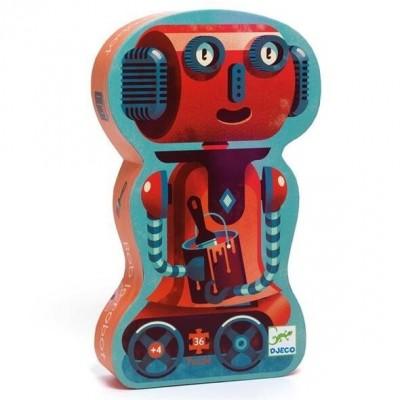 Djeco - Puzzle 36 pièces Bob le robot