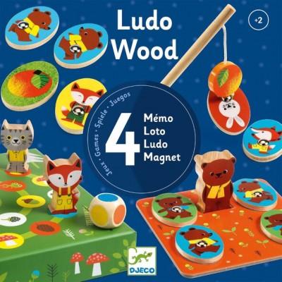 Djeco -  Ludo Wood Magnétique
