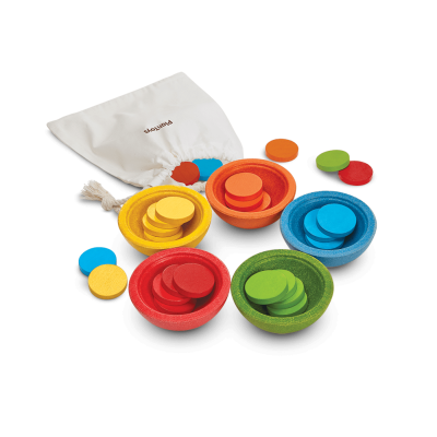 Plan Toys - SORT & COUNT CUPS