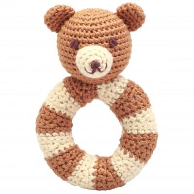 NatureZOO Ring rattle - Mr. Teddy