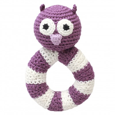 NatureZoo Ring rattle - Mrs. Owl