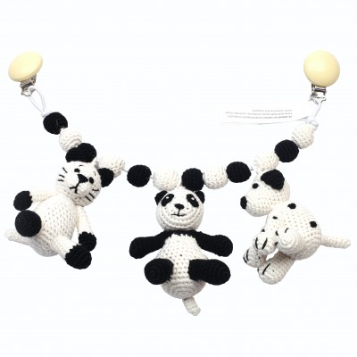 NatureZOO Large trolley mobile - Mrs. Cat, Sir Panda and...