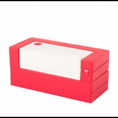 Designskin LONGCAKE Siège blanc et rouge
