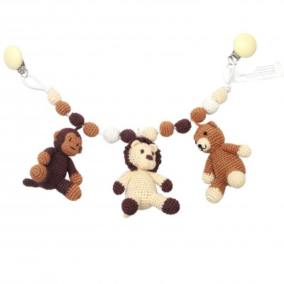 NatureZOO Large trolley mobile - Bear, Lion and Monkey