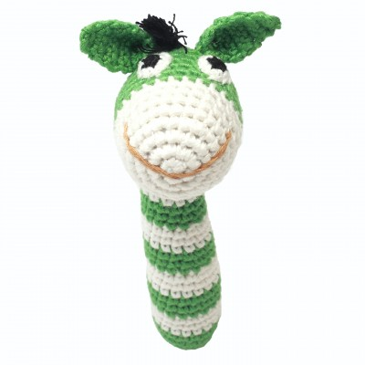 NatureZOO Rattle stick - Mr. Donkey