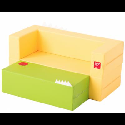 Designskin LONGCAKE Yellow and gree sofa