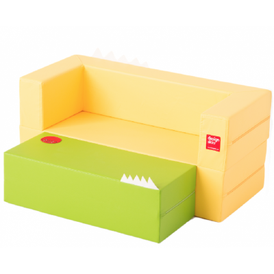 Designskin LONGCAKE Yellow and gree sofa