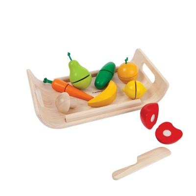 Plan Toys Plateau de fruits et légumes à découper