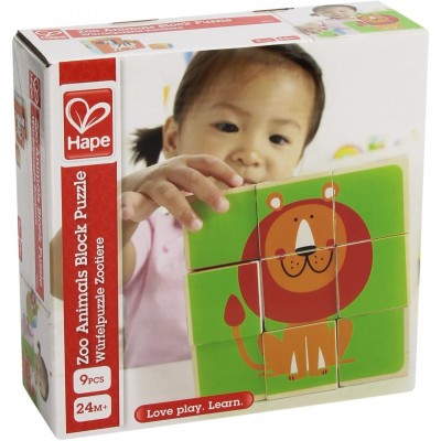 Hape Zoo Animals Block Puzzle