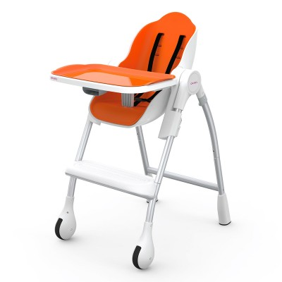 Oribel Cocoon High Chair - Chaise Haute Orange
