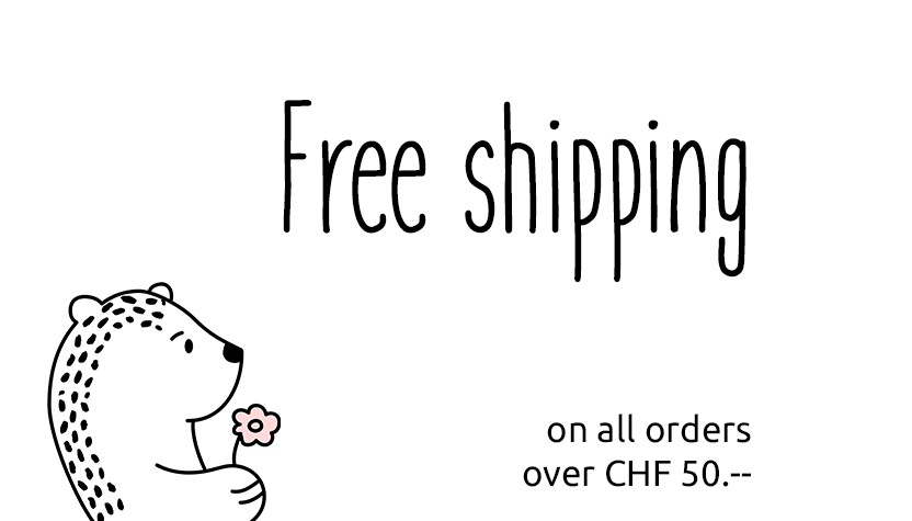 Boueb free shipping on all orders over CHF 50.--